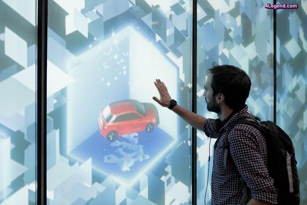 Audi City Paris fête Noël avec sa vitrine animée et digitale
