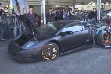 Vidéo – Destruction d'une Lamborghini Murciélago par les autorités taïwanaises