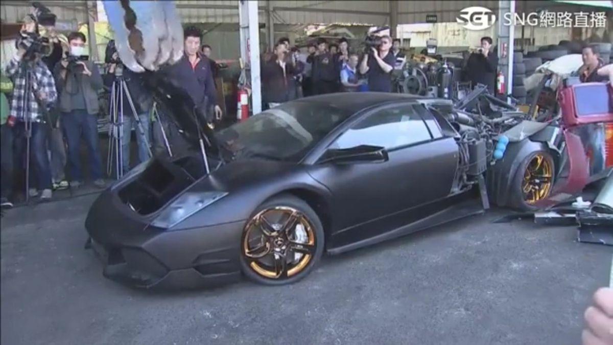 Vidéo - Destruction d'une Lamborghini Murciélago par les autorités taïwanaises