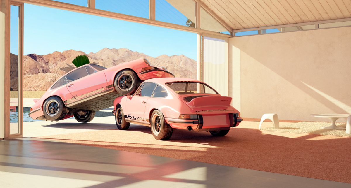 De l'art en 3D avec des Porsche 911 Carrera RS 2.7 par Chris Labrooy