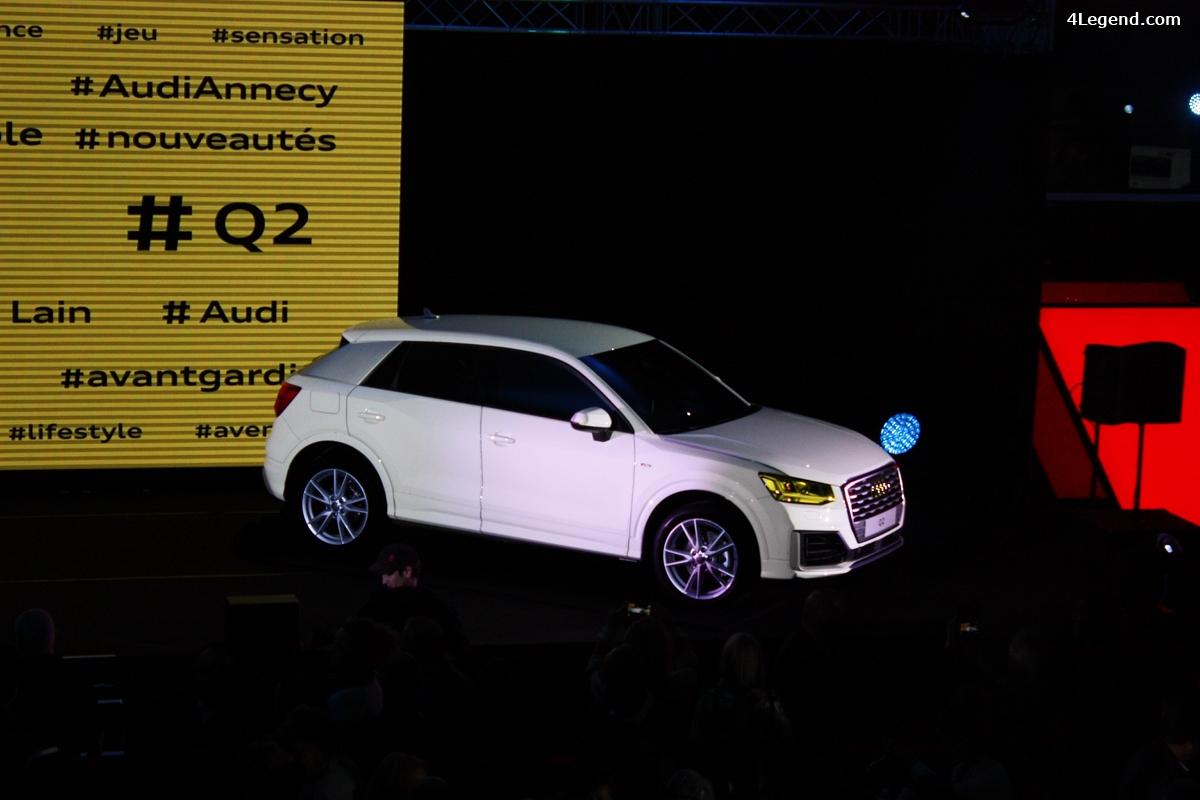 Soirée de présentation de l'Audi Q2 à Annecy.