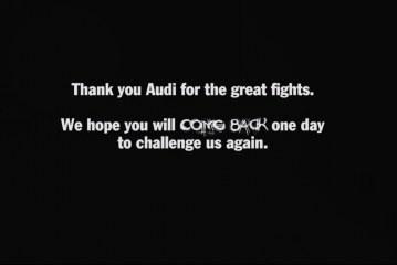 Superbe vidéo Porsche sur le départ d'Audi Sport en WEC