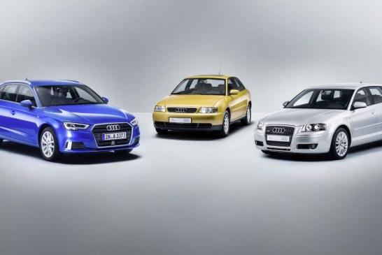 L'Audi A3 fête ses 20 ans – Une success story sur trois générations