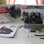 Maquette du moteur Porsche Flat 6 de 1966 à monter à l'échelle 1:4 by Franzis