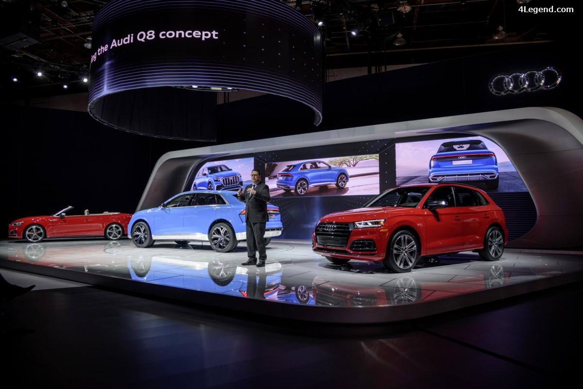 NAIAS 2017 - 3 Nouveautés Audi présentées : Audi Q8 concept, Audi SQ5 3.0 TFSI, Audi S5 Cabriolet