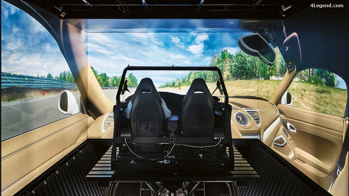 Porsche fait appel à la technologie du siège de conduite virtuelle pour développer ses voitures