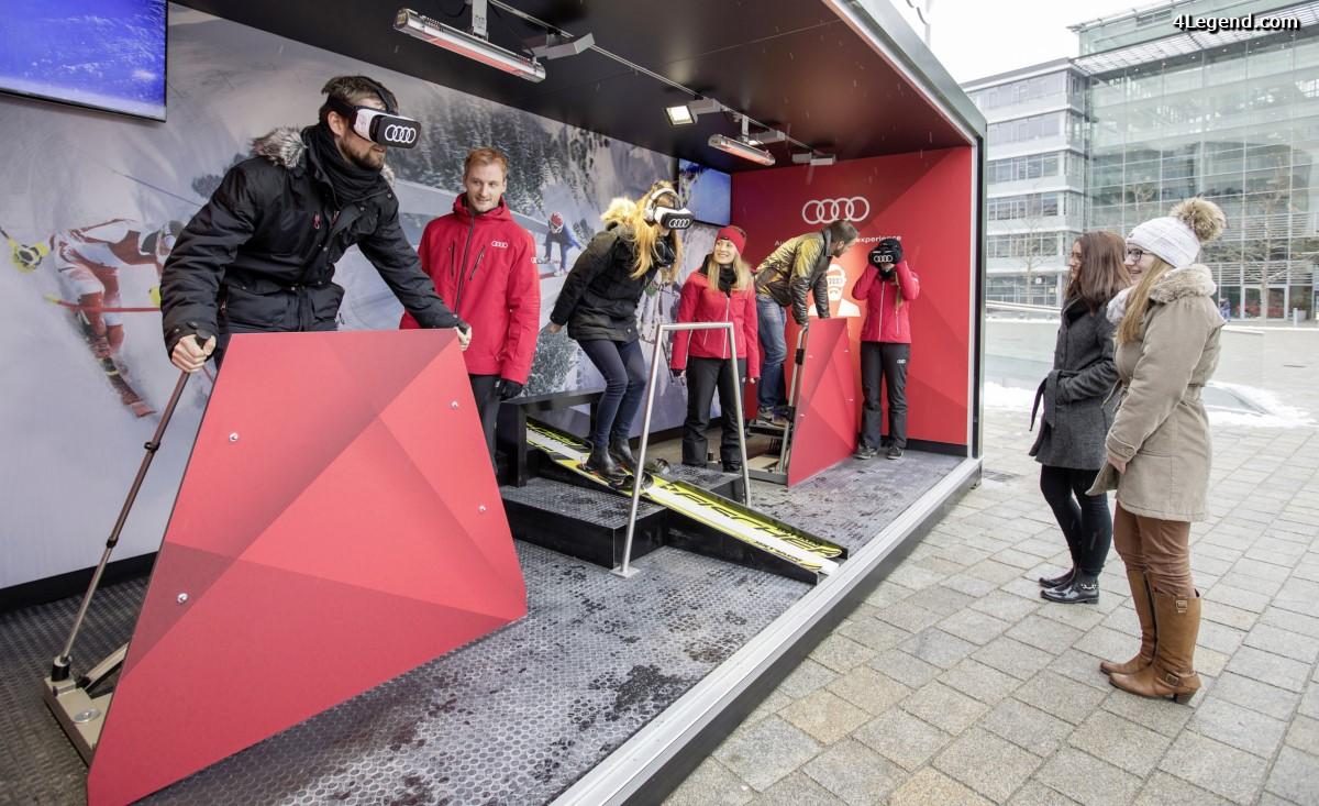 Une expérience de ski virtuelle à l'Audi Forum Ingolstadt