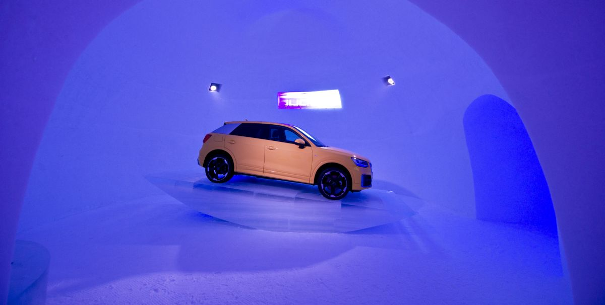 L'Audi Q2 à l'honneur au ICE CAMP 2017 à Kitzsteinhorn