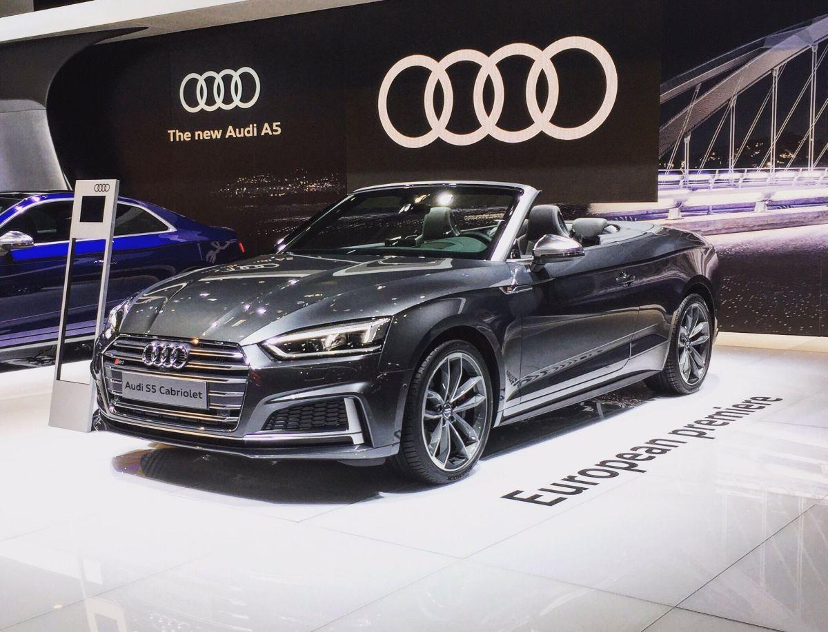 Salon de l'Auto de Bruxelles 2017 - Première européenne de l'Audi S5 Cabriolet