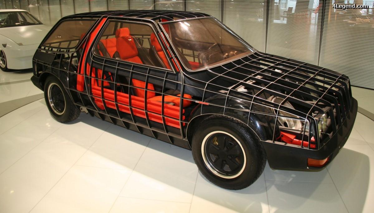 Porsche FLA Type 1989 de 1973 - Un concept de voiture économique et de longue durée