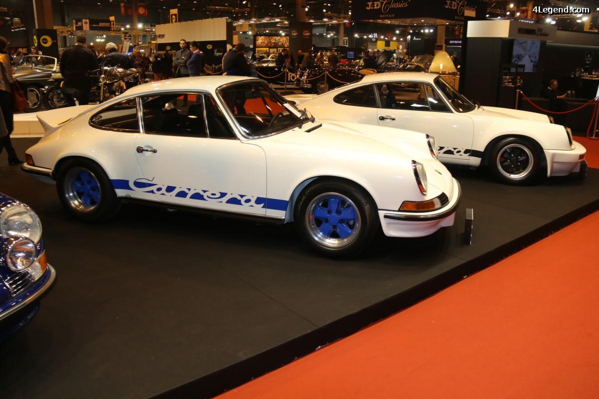 Rétromobile 2017 - Stand Porsche Serge Heitz avec des 911 et des 356