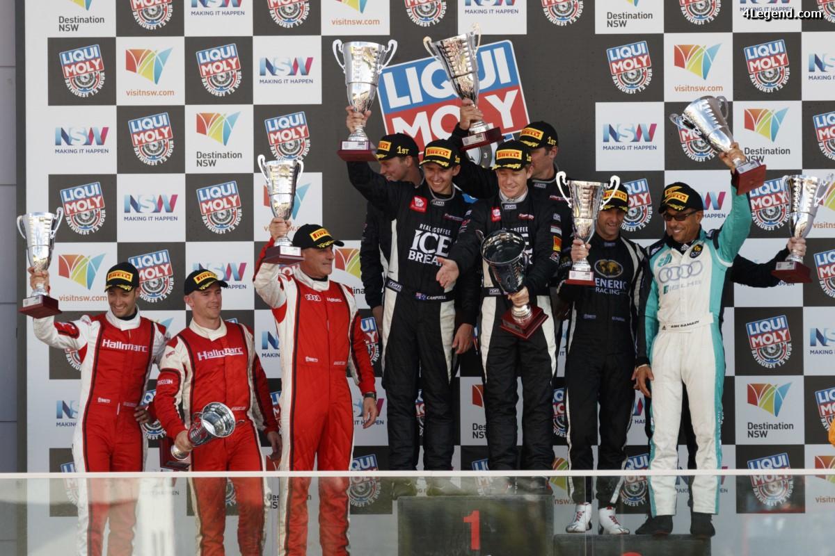 12H Bathurst 2017 - Deux places sur le podium pour les équipes clients Audi en Australie