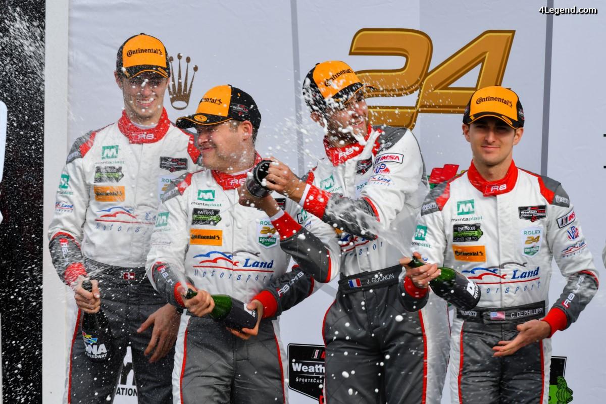 24H Daytona 2017 - Podium pour l'Audi R8 LMS en GTD
