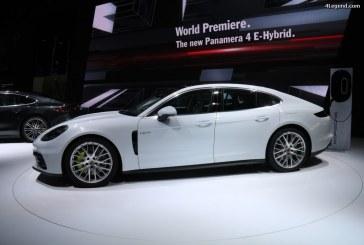 Porsche présente sa gamme E-Performance au Salon International de l'Automobile de Monaco 2017
