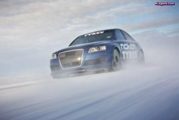 Record de vitesse sur glace à 335,713 km/h pour les pneus Nokian Hakkapeliitta 8 avec une Audi RS 6 MTM