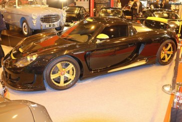 Rétromobile 2017 – Gemballa Mirage GT Gold Edition de 2004 sur base de Porsche Carrera GT