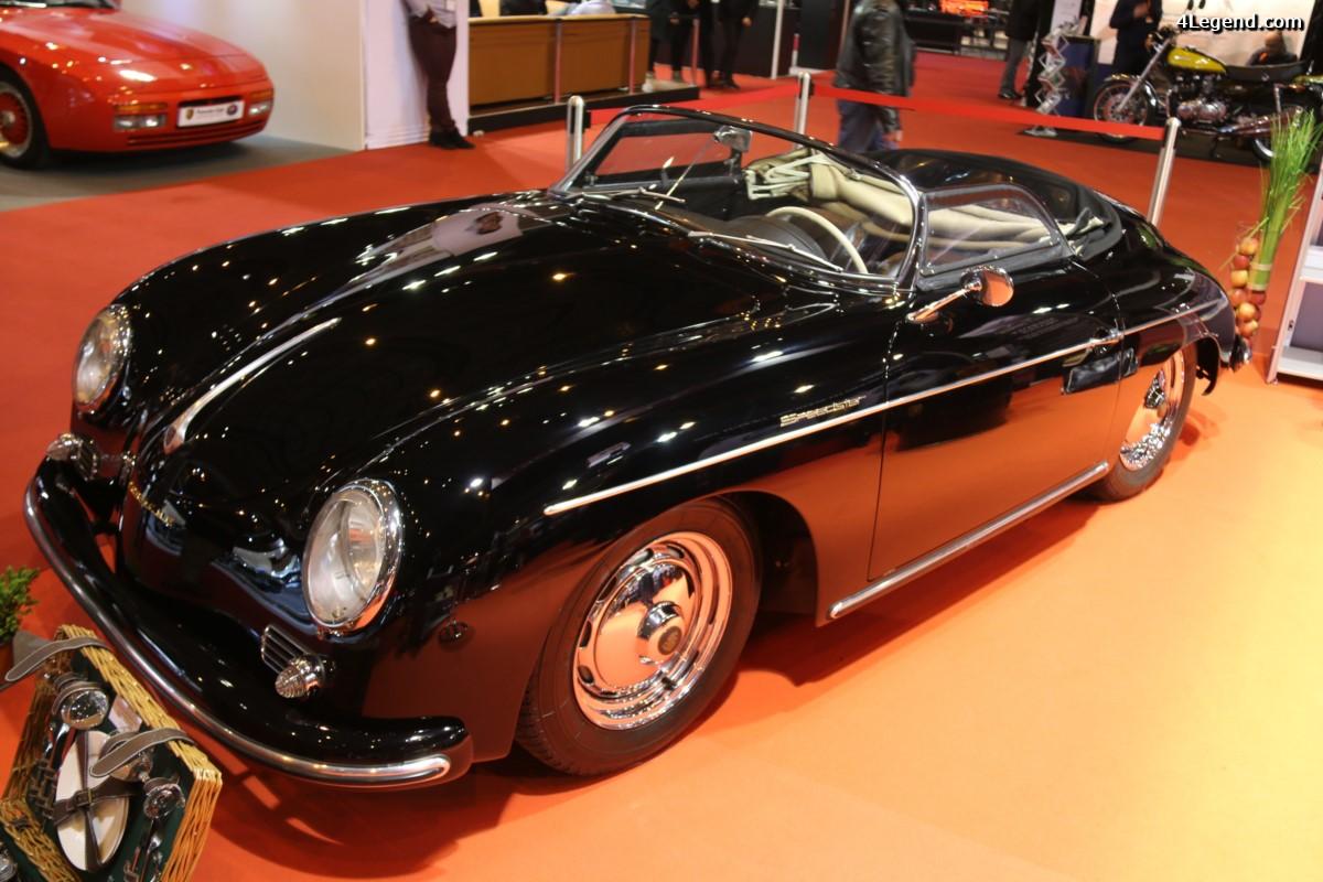 Rétromobile 2017 - Porsche 356 A 1600 Super Speedster de 1957 avec vitres latérales souples
