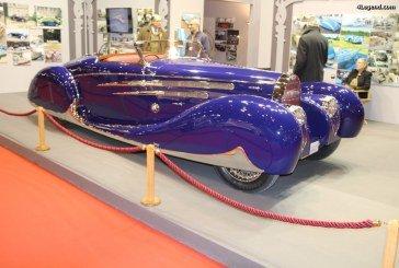 Rétromobile 2017 – Réplique de la Bugatti Type 57 Cabriolet de 1939 carrossée par Saoutchik & Van Vooren – La Bugatti du Shah d'Iran