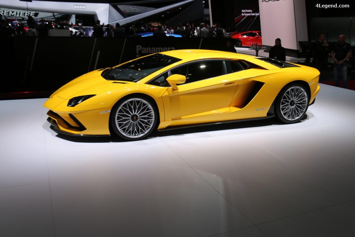 Genève 2017 - Lamborghini Aventador S - 740 ch et 4 roues directrices