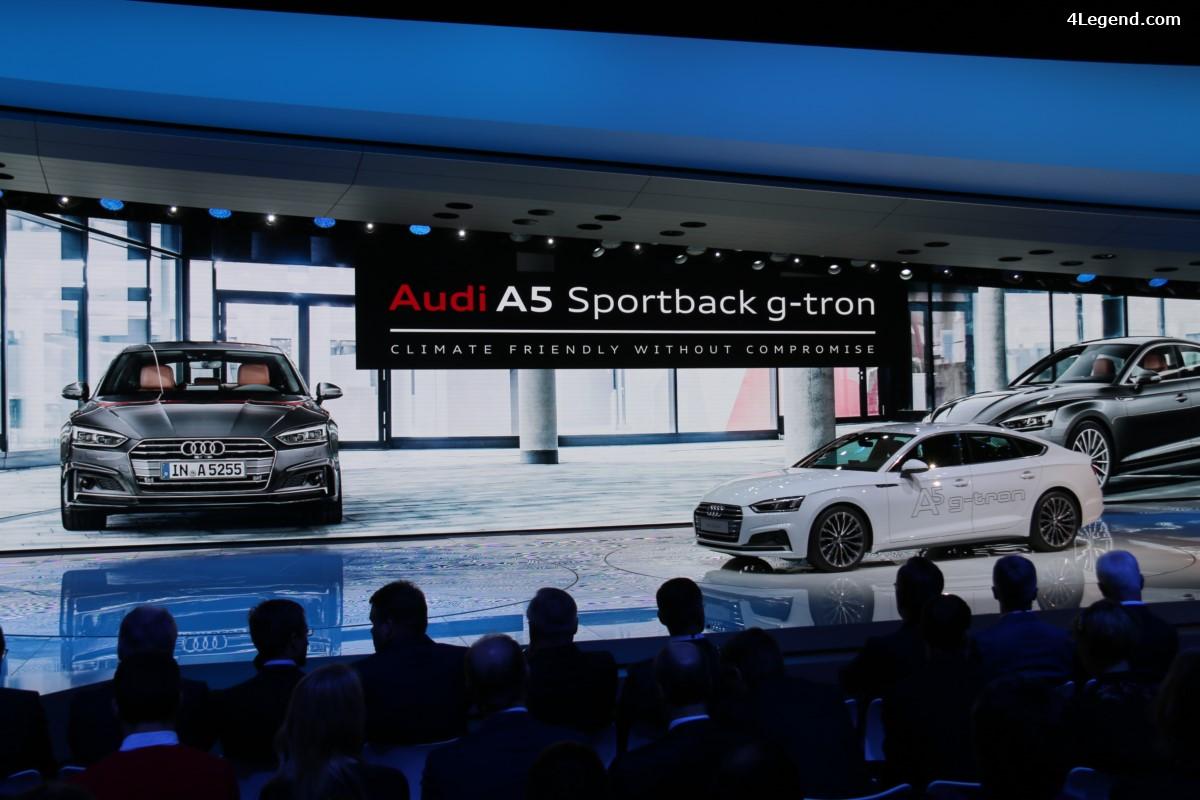 Genève 2017 - Nouvelle Audi A5 Sportback g-tron : écologique et sportive