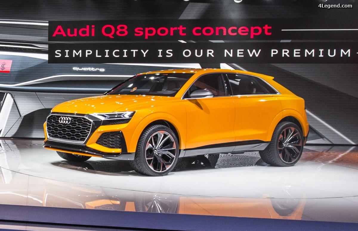 Genève 2017 - Audi Q8 sport concept : Un SUV sportif et luxueux