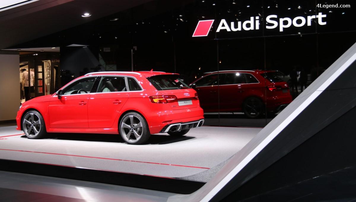 Genève 2017 - Nouvelle Audi RS 3 Sportback de 400 ch