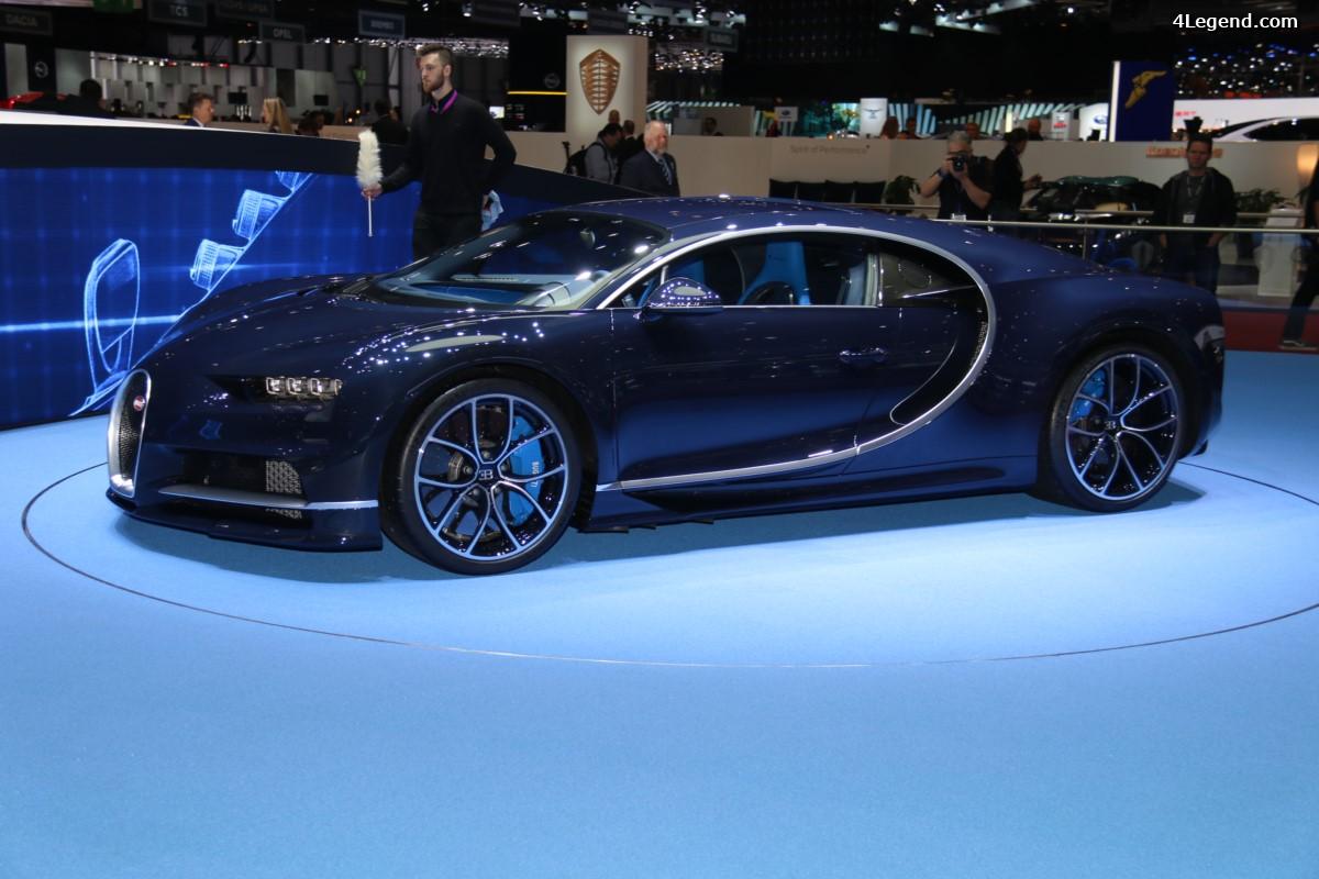 Genève 2017 - Bugatti Chiron en carbone apparent bleu Royal