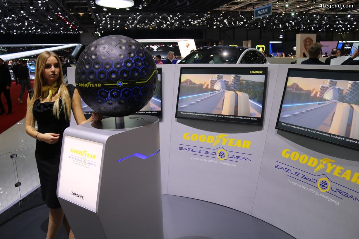 Genève 2017 - Goodyear dévoile l'Eagle 360 Urban, un pneu concept doté d'intelligence artificielle