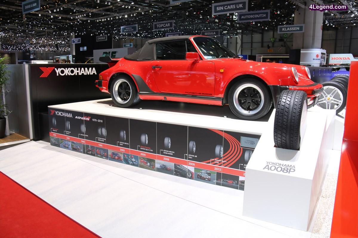 Genève 2017 - Refabrication du pneu Yokohama A008P ayant équipé en première monte les Porsche 911