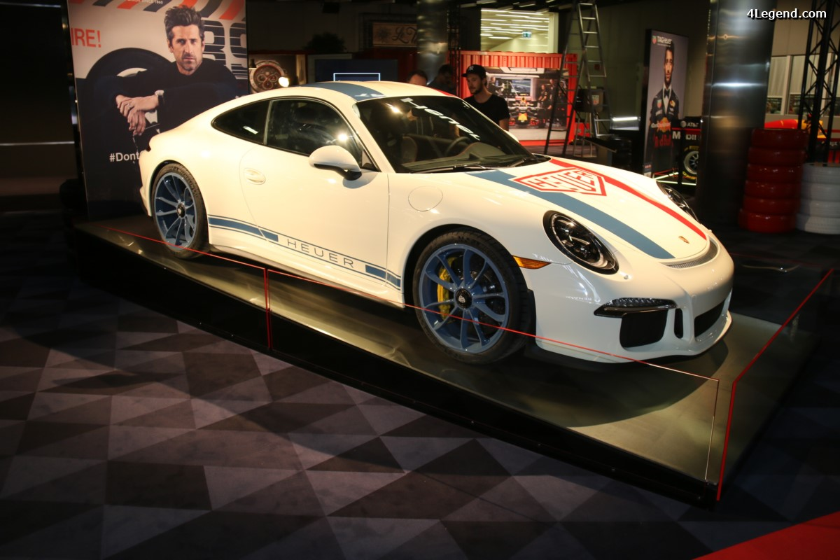 Genève 2017 - Porsche 911 R aux couleurs de Heuer