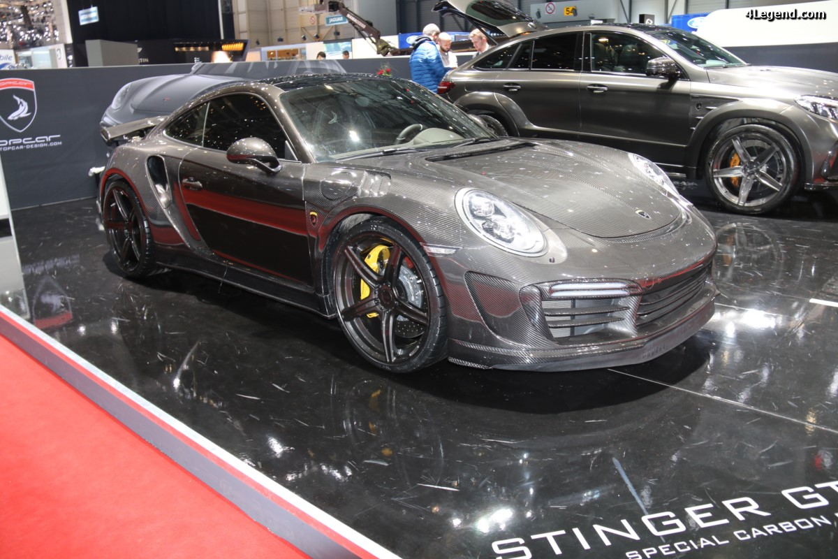 Genève 2017 - Porsche 911 Stinger GTR Special Carbon Edition par TopCar