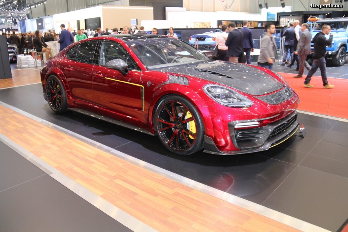 Genève 2017 - Porsche Panamera Turbo en fibre de carbone personnalisée par Mansory