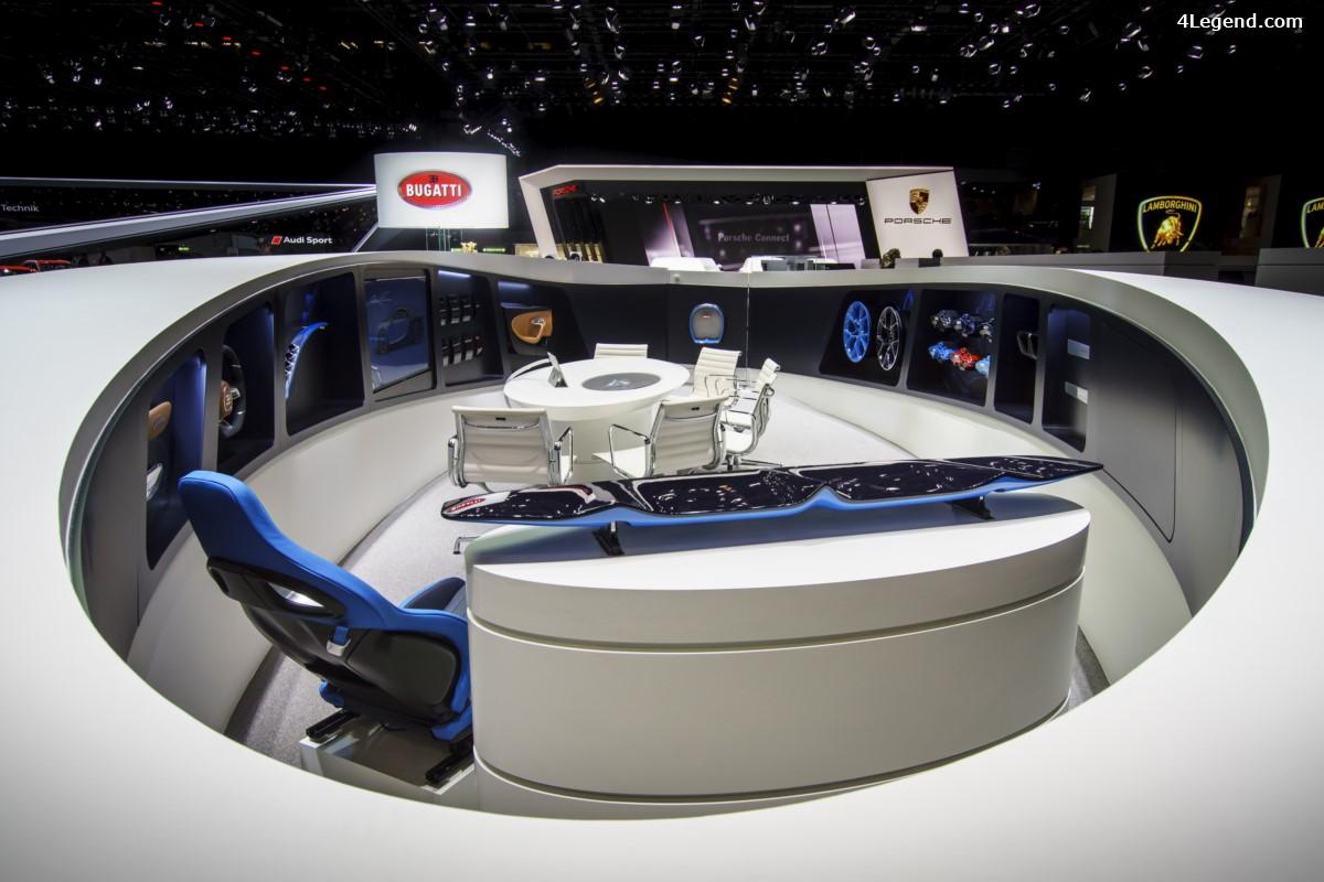 Genève 2017 - Le design du stand Bugatti a été honoré par un prix