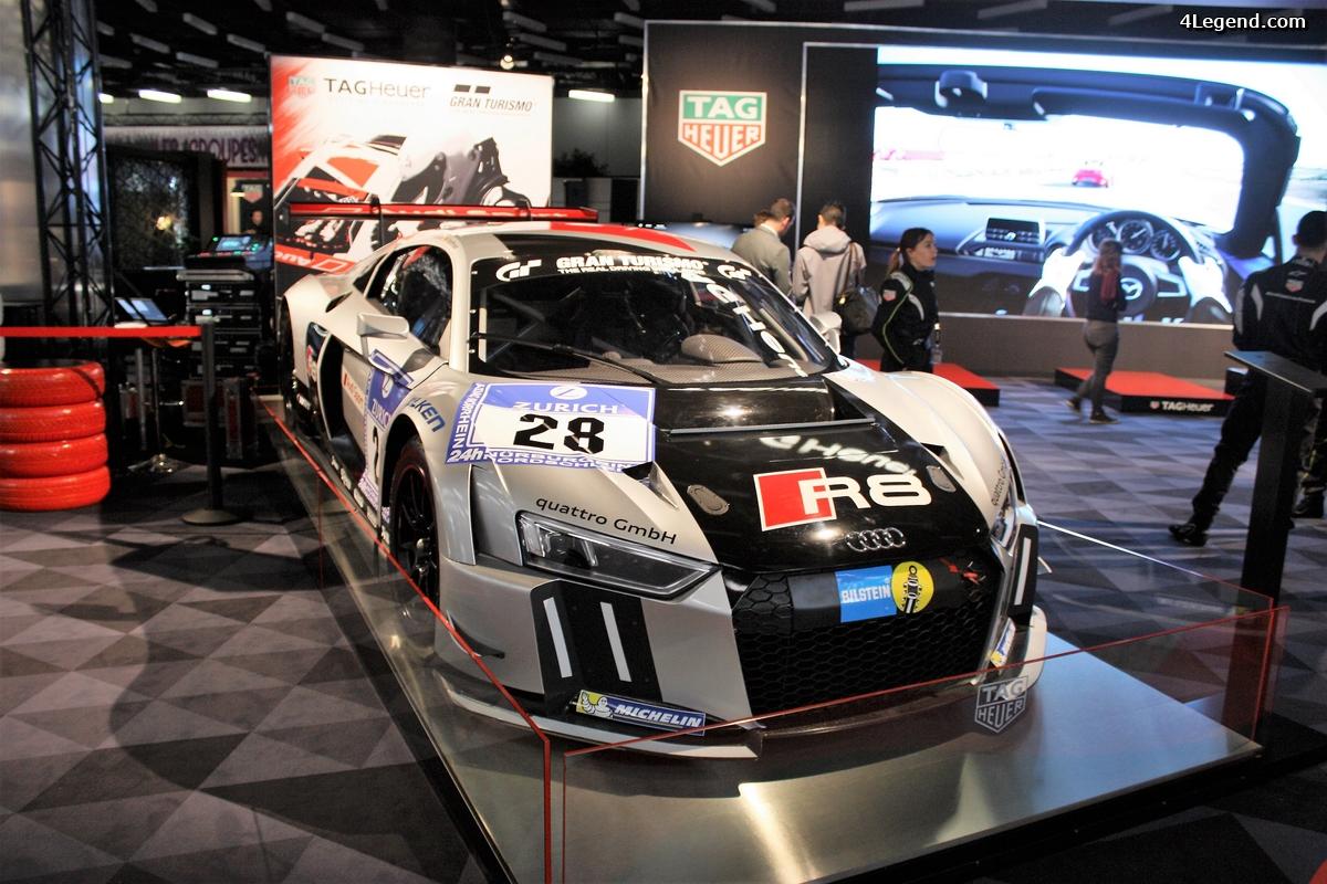 Genève 2017 - Audi R8 LMS sur le stand Tag Heuer.