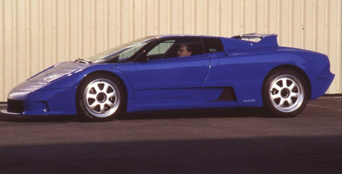 Rinspeed Bugatti Cyan de 1994 - Une Bugatti EB 110 GT personnalisée par Rinspeed