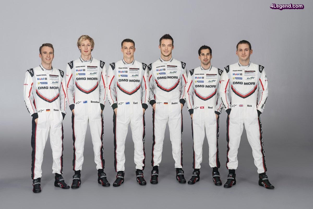 WEC - Présentation de la nouvelle Porsche 919 Hybrid et de l'équipe à Monza le 31 mars 2017 à 14h00