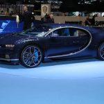 Genève 2017 – Bugatti Chiron en carbone apparent bleu Royal