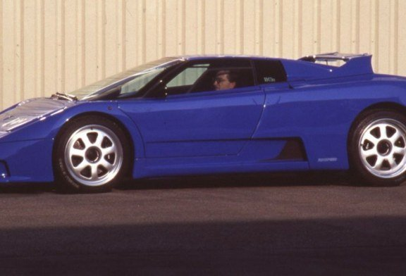 Bugatti Veyron Going Back To The Future Art Promo: Rinspeed Bugatti Cyan De 1994