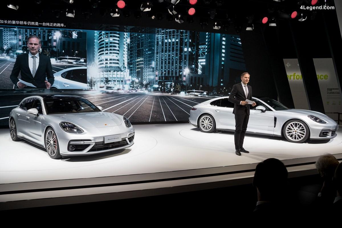 Auto Shanghai 2017 - Porsche dévoile 5 nouveautés en Asie dont la Panamera Sport Turismo et la Panamera Executive