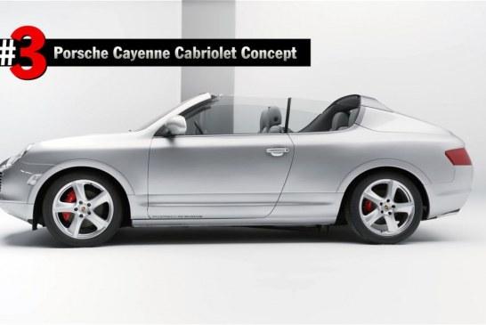 Porsche Cayenne Cabriolet concept de 2002 – Une étude de style interne unique