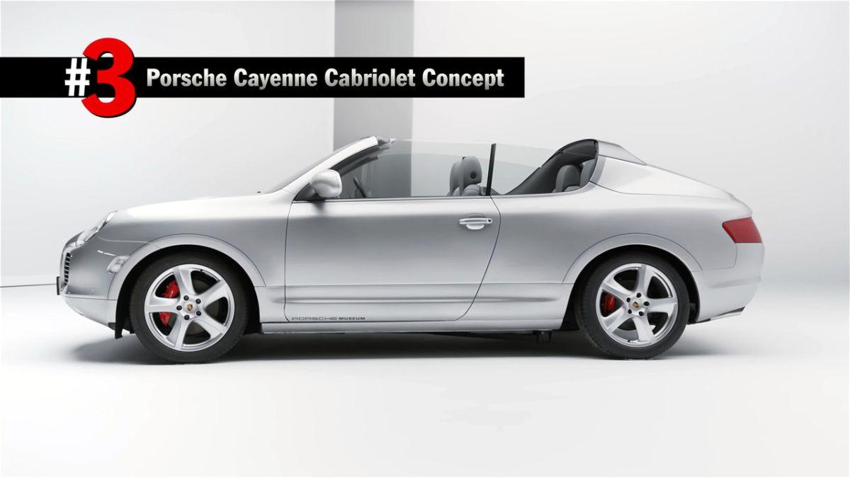 Porsche Cayenne Cabriolet concept de 2002 - Une étude de style interne unique