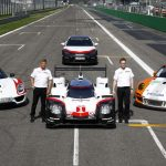 Présentation des voitures sportives et hybrides de Porsche à Monza