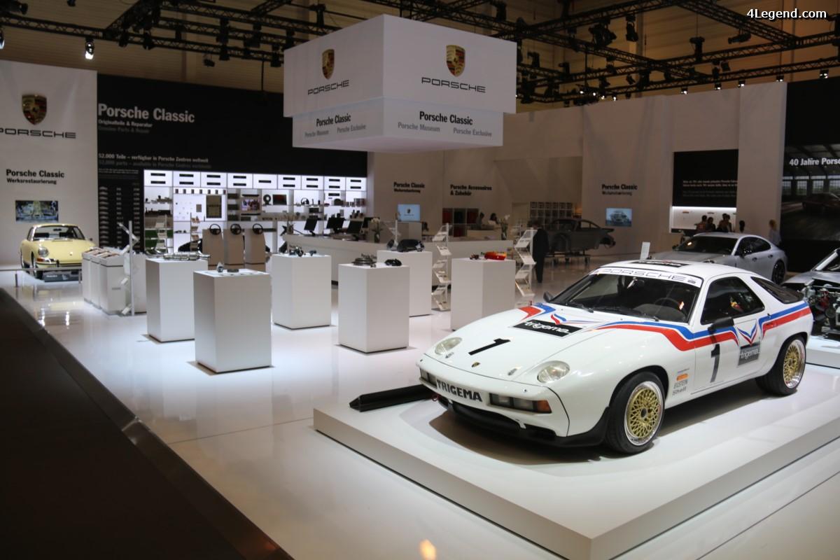 Techno Classica 2017 - Stand Porsche Classic avec des exemples de restauration