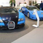 Techno Classica 2017 – Bugatti Veyron Grand Sport Vitesse & EB 110 GT aux côtés d'une Bugatti Type 51