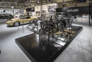 Techno Classica 2017 – Lamborghini PoloStorico expose une Miura P400 SV et le châssis d'une Countach LP400 «Periscopio»