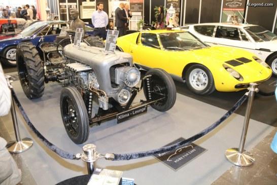 Techno Classica 2017 – Exposition du Lamborghini Centenario Tractori et sculpture de Ferruccio Lamborghini avec une Miura