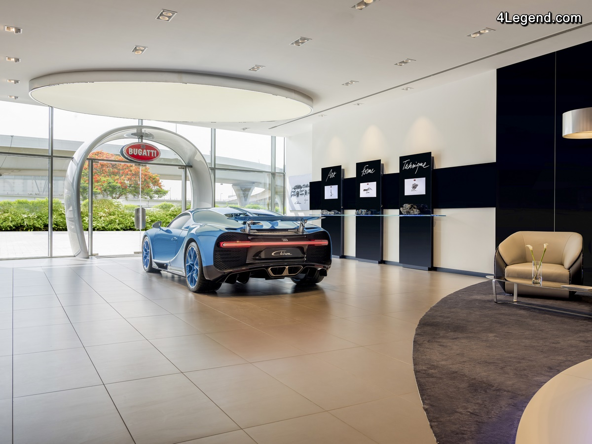 Bugatti a inauguré le plus grand showroom de la marque à Dubaï
