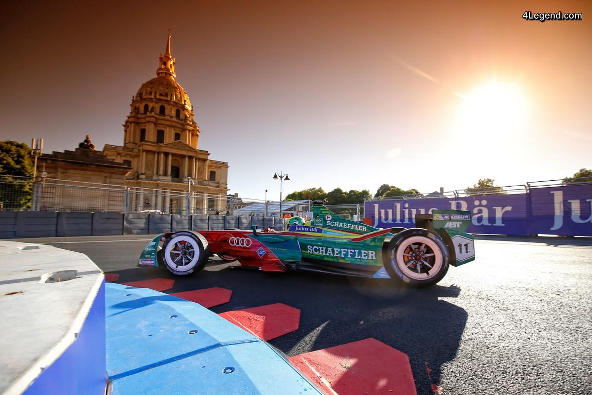 Formula E - Une course décevante pour l'équipe ABT Schaeffler Audi Sport à Paris