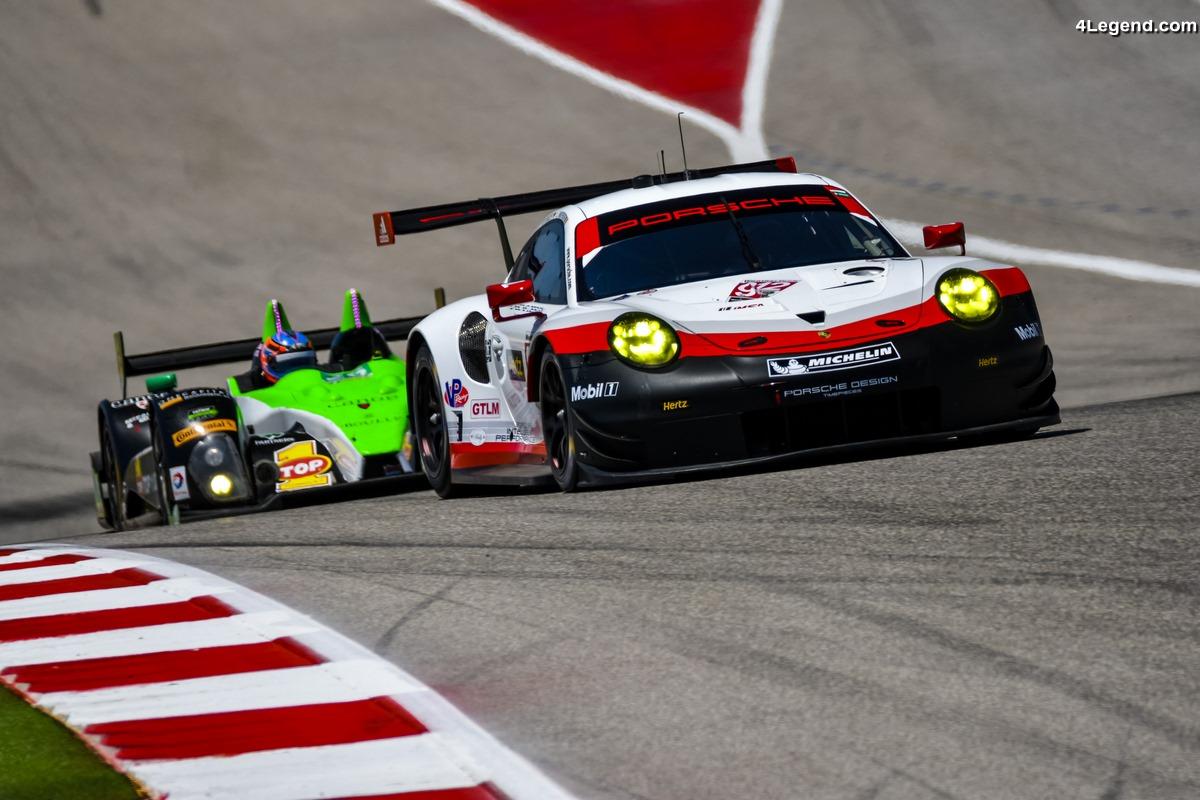 IMSA - Une course décevante pour les Porsche 911 RSR et 911 GT3 R à Austin