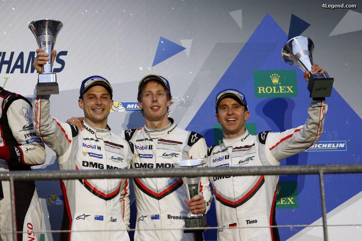 WEC - Les Porsche 919 Hybrid terminent 3ème et 4ème aux 6 Heures de Spa 2017 derrière Toyota